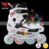 PU inline roller skate shoes quad wheel shoes men