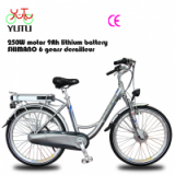 with throttle bycicle for lady/factory of electric bike for lady/250w 8FUN front motor bycicle for lady