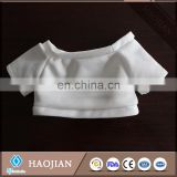plain sublimation polyester T-shirts for toys mini t-shirts 100% polyester t-shirt for bears
