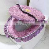 lace toilet seat cover set