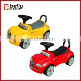 Funny red and yellow plastic baby sliding car on alibaba