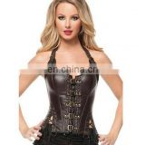 European palace style leather body shaper corset#SY-0029