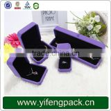 Alibaba china custom velvet jewelry box for ring necklace bracelet set earring