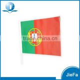 Plastic Promotional Hand Flag For Portugal Customer