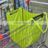 Reusable grocery cart shopping bag with wheels