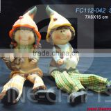 Polyresin harvest festival scarecrow figurine holiday product