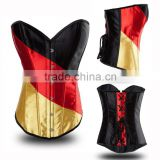 Corset Burlesque Basque Boned Lace Up Corsets Fancy Dress Costume