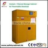 Filteration safety cabinet with Self closed doors 16 guage steel plate for highly flammable liquids