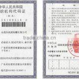 Organization code certificate of China