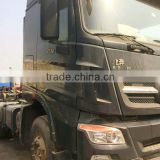 Used Benz tractor head for sale in shanghai HOWO Shacman Volvo Scania tractor head truck trailer