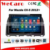 Wecaro 10.2 inch android 4.4/5.1 touch screen for mazda cx-5 car dvd player 2012 + With Wifi and 3G GPS Radio RDS