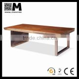 Inquiry About promotional unique design wood stainless steel coffee table
