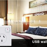 double safety home socket australian Wall Light plug 5V 2.1A electrical sockets USB Wall Switch Socket