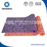 pvc flower printed yoga mat,pvc floor mat,screen printing yoga mats manufacturer in china