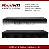 2016 Best Selling 1x4 V1.4a HDMI Splitter With HDCP Key