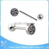 Factory Customized Poker Shape Penis Tongue Piercing Jewelry