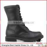 High Quality SNew Black Leather Women/men military Surplus Boots