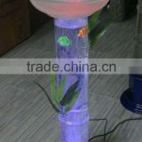 water columm lamp with plastic fish/Mist Fog Maker Lamp Colour Changing LED Lights Blue Frost Bowl Water Fountain
