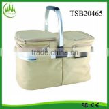 New Fully Insulated Picnic Lunch Bag Picnic Basket Picnic Drinks Large Capacity Camping Cooler Bag