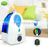 4L Tabletop Ultrasonic Cool Mist Humidifier with 7 Auto Colors Changing LED Night Lamp and Mist Adjustment Mode