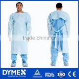 Thumb up Disposable Nonwoven Latex Free Isolation Gown
