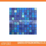 Shower floor mesh backed mosaic tiles