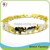 Copper/brass new custom fashion dubai 18k gold zircon bracelet bangles jewelry manufacturer design for girls