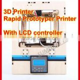 3d rapid prototyping printer with LCD screen controller personal desktop printer model/art works 3 dimension printer