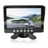 7 inch tft car auto lcd screen rear monitor view rearview dvd av mirror Heavy-duty Digitalcar headrest monitor with hdmi input