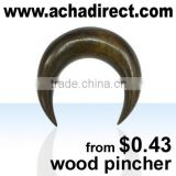 Custom jewelry,organic body jewelry pincher made of wood (from Bali - Indonesia), price starts from US$ 0.43 per piece