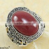 New Vintage Cameo Kingly Red Agate 925 Sterling Silver MENS Ring Size 9 N71 Free Shipping