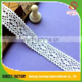 [NTSUNRISING] factory supply 3CM Wholesale latest style cotton african dry french net lace for Dress/Garment/Underwear/cap/bag