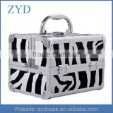 Aluminum Cosmetics Makeup / Jewelry Travel Train Cosmetic Mini Case with Mirror ZYD-HZMmc009