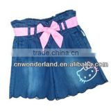 latest fashion kids soft denim skirt short baby denim short