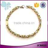 2016 fashionable jewelry gold plated 316l stainless steel chain bracelet for men                                                                                                         Supplier's Choice