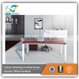 Modern Style Office Furniture Desk In Melamine Material Finish With Storage Cabinet LB-LSD-01