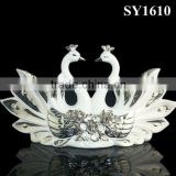 Isolate the silver plating bird table home decoration