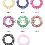 Plastic hair band multi color elastic stretchy candy quality cheap women telephone wire hair circle