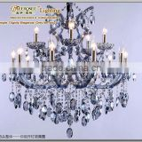 2013 Modern Maria Thereasa Chandelier, Blue Blown Glass Hanging Crystal Light Chandelier MDS41-L10+5