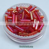 Wholesale Hot Sale Garment Accessories Red Round Tube Seed Beads In Bulk GSB-4RB06