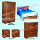 wooden bedroom set,wardrobe,beds,chest of drawer,bedside cabinet,mirror frame,home furniture,mango wood furniture