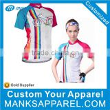 Custom Fitnesswetsuits Breathable Girls Cycling Wear