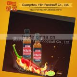 price competitive YILIN brands 50ml red Hot Chili Sauce in glass bottle Chinese manufacturing with OEM service