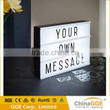 A2 A3 A4 size USB cinematic light box with letters battery operated LED cinema light box                                                                                         Most Popular