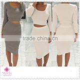 Fashion apparel spring Autumn two pieces sexy women knitted dresses                                                                         Quality Choice