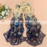 Spring sweet chiffon shawl Korean female butterfly wraps fashion voile scarf
