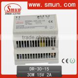 30W 15V Din Rail Power Supply For Industry DR-30-15