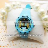 2013 best selling childrens' fashion bule plastic case water resistant cheap toy watch