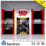 Sentron mini 4d motion ci equipment, 4d 5d 6d 7d cinema simulator with factory low price for amusement park Business Investments
