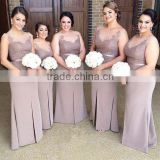 (MY2657) MARRY YOU Cap Sleeve Lace Appliqued Fat Bridesmaid Dress